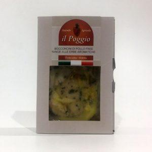 Bocconcini di Pollo alle Erbe Aromatiche Confezione in Box da 200 gr.