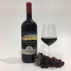 Vino rosso DOC toscano 'Poggio Corno' ORCIA DOC 2016 BIO