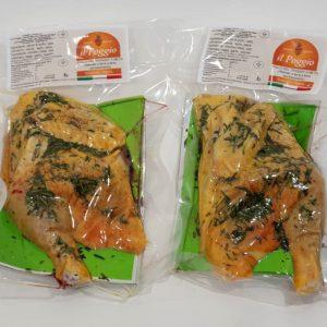 Pollo Intero Confezionato in Box a Metà