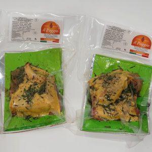 Pollo Free Range del Poggio Metà Confezionato in Box a Quarti da 0.7 kg Sottovuoto