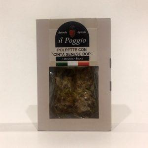 Polpette di Cinta Senese Confezione in Box da 200 gr.