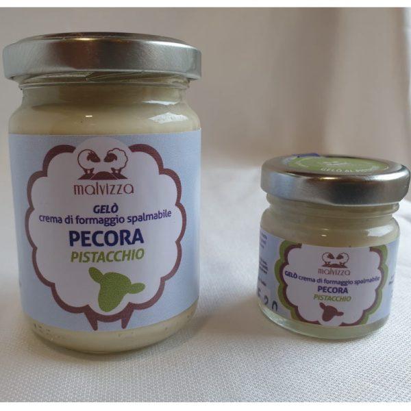 Crema di formaggio spalmabile di pecora al pistacchio