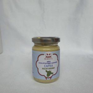 Crema di formaggio spalmabile di capra all'aglio orsino GELO