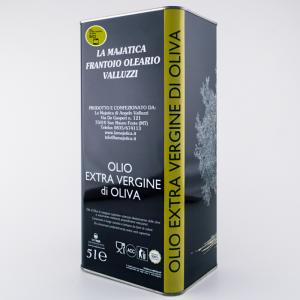 Olio Extra Vergine di Oliva Biologico La Majatica 5 lt.