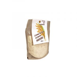 Mousse di riso ai mirtilli