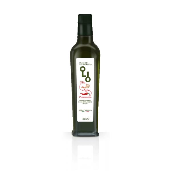 olio aromatizzato all'aglio e peperoncino