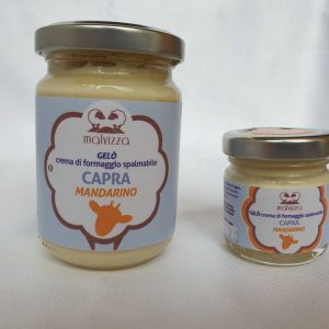 Crema di formaggio spalmabile di capra al mandarino GELO