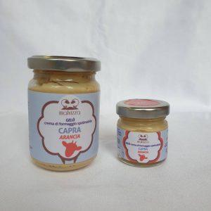 Crema di formaggio spalmabile di capra all'arancia GELO