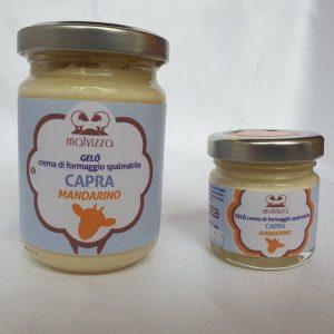 Crema di formaggio spalmabile di capra al mandarino
