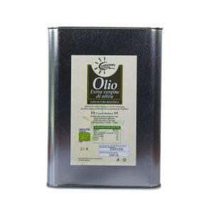 Olio Extravergine d'oliva biologico in latta