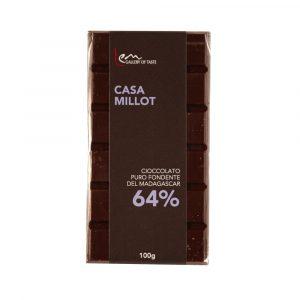 Tavoletta cioccolato fondente Millot 64%