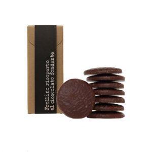 Frollino ricoperto al Cioccolato Fondente