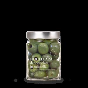 Olive Nocellara Denocciolate in Salamoia