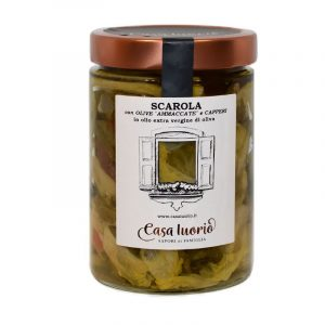 scarola con olive e capperi